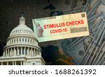Small photo of Understanding the Senate Stimulus Bill government US 100 dollar bills currency on Global pandemic Covid 19 lockdown