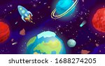 space cartoon vector... | Shutterstock .eps vector #1688274205