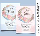 cute baby shower watercolor... | Shutterstock .eps vector #1688320495