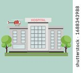 hospital building with... | Shutterstock .eps vector #1688343988