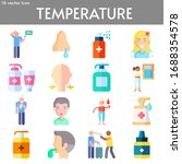 temperature flat icon set on... | Shutterstock .eps vector #1688354578