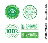 set of 100  organic green badge ...   Shutterstock .eps vector #1688367532