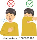 sneezing  cough manners vector... | Shutterstock .eps vector #1688375182