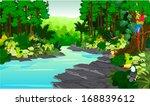 vector illustration jungle... | Shutterstock .eps vector #168839612