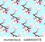 seamless pattern of twigs with... | Shutterstock .eps vector #1688400478