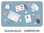 flat design modern vector... | Shutterstock .eps vector #168840146