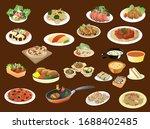 vector illustration set of... | Shutterstock .eps vector #1688402485