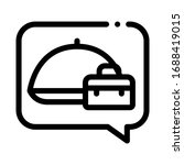 business lunch icon vector.... | Shutterstock .eps vector #1688419015
