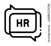 chat message hr icon vector.... | Shutterstock .eps vector #1688422438