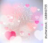 happy valentine's day card with ...   Shutterstock .eps vector #168843755