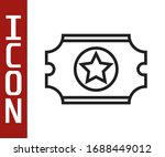 black line cinema ticket icon... | Shutterstock .eps vector #1688449012