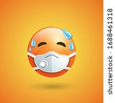 emoji with mouth mask... | Shutterstock .eps vector #1688461318