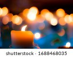 Candle Lit Portrait With Bokeh