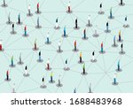 contact tracing. public health... | Shutterstock .eps vector #1688483968
