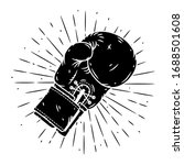 boxing glove. hand drawn vector ... | Shutterstock .eps vector #1688501608