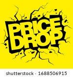 price drop vector banner  sale... | Shutterstock .eps vector #1688506915