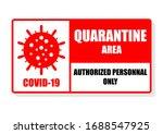 coronavirus quarantine area...   Shutterstock .eps vector #1688547925