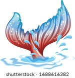 fantacy theme with mermaid fin... | Shutterstock .eps vector #1688616382