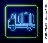 glowing neon tanker truck icon... | Shutterstock .eps vector #1688635288