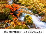 Autumn Waterfall In Mountain...