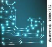 eps10 vector circuit board... | Shutterstock .eps vector #168864872