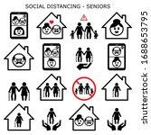 senior man and woman social... | Shutterstock .eps vector #1688653795