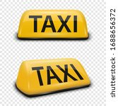 vector 3d realistic yellow... | Shutterstock .eps vector #1688656372