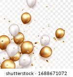 celebration banner with gold...   Shutterstock . vector #1688671072