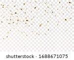 gold confetti background ...   Shutterstock .eps vector #1688671075