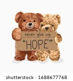 "bear toy couple holding ""hope""... | Shutterstock .eps vector #1688677768"