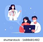 coronavirus epidemic quarantine ... | Shutterstock .eps vector #1688681482