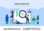 illustration of a world book...   Shutterstock .eps vector #1688705512