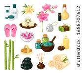 spa set  health giving baths...   Shutterstock .eps vector #1688707612