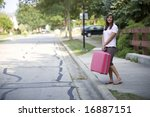 Stock photo traveller waiting for a ride 16887151