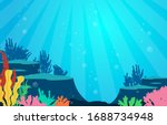 marine coral reef underwater... | Shutterstock .eps vector #1688734948