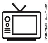 tv icon. tv icon vector...