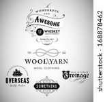 vintage emblems collection | Shutterstock .eps vector #168878462
