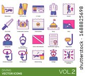 diving icons including shore ... | Shutterstock .eps vector #1688825698