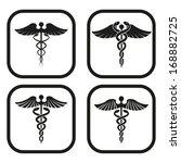 caduceus symbol   four... | Shutterstock .eps vector #168882725