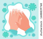 icon infographic of protected... | Shutterstock .eps vector #1688839768
