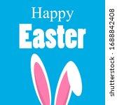 easter bunny ears  vector art... | Shutterstock .eps vector #1688842408