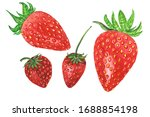 Set Of Red Strawberries....
