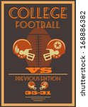 vintage american football... | Shutterstock . vector #168886382