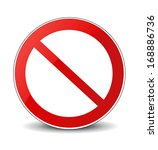 illustration of prohibited sign | Shutterstock .eps vector #168886736
