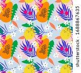 contemporary hawaiian vector... | Shutterstock .eps vector #1688867635