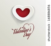 valentine's day background ... | Shutterstock .eps vector #168886856