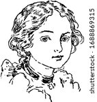 a young girl face in this...   Shutterstock .eps vector #1688869315