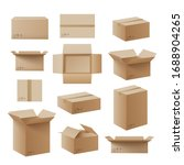 set of recycling cardboard... | Shutterstock .eps vector #1688904265