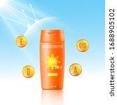 sunscreen bottle mockup ad  ... | Shutterstock .eps vector #1688905102