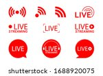 live streaming logo   red... | Shutterstock .eps vector #1688920075